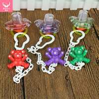 Wholesale Mothers And Kids Supplies Baby Feeding Mumlove Funny Pacifier With Chain And Clear Cup Thumb Silicne Soother Baby Nipple Factory Outlet