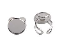 band settings - 10 Silver Plate mm Cabochon Settings Base Rings