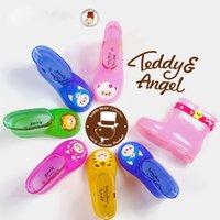 Wholesale New Teddy Angle Rain Boots Kid Child Wellies Teddy Bear Boy Girl Galoshes Colors