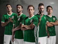 Wholesale Thailand Quality Copa America Mexico national uniform home men jersey Hernandez short sleeves suit