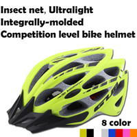 advance cycle - NEW Insect Net Professional Cycling Helmet Advanced mountain Bicycle road bike Ultralight Integrally molded High strength