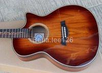 Wholesale Koa material cut away K24ce acoustic electric guitar real B band EQ string guitarra