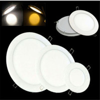 Wholesale LED panel light w mm Ultra thin downlight dimmable led panels round square indoor lighting recessed Led ceiling downlights