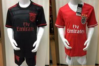 Wholesale Top Thai Quality NEW SL Benfica Kids Jersey Lisboa Running shirts home red Away black maillot de