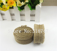 Wholesale Approx cm Natural Jute Ribbon Rustic DIY Decoration Craft roll m roll
