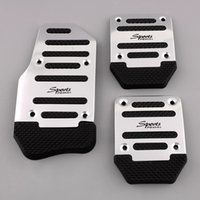 aluminium auto parts - OEM Black Silver Aluminium Alloy Non slip Pedal Foot Treadle Cover Car Auto Vehicle Interior Parts