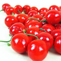 Wholesale New cute realistic Mini Artificial Fake Plastic Decorative Cherry Food Decor