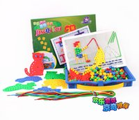 Wholesale Integrated threading board building blocks Children s educational toys Hand eye coordination Early Education Enlightenment