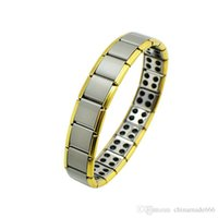 Wholesale AA Health Bracelet Gold Anti Fatigue Germanium Titanium Bracelet Power Bangle For MEN WOMEN Health Reduce muscle tension