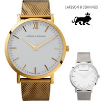 battery box - Classic MM Mens Watches Top Brand Luxury Style Larsson jennings Watch Quartz Wristwatch Without Box Reloj