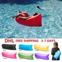 Wholesale Outdoor Fast inflatable banana sleeping Lazy Bag Hangout Camping Beach Air Sofa Bed Lounge Bolsa De