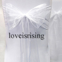 Wholesale Hot item pack quot cm Wx108 quot cm L Chair Organza Sash Bow for Wedding Banquet Party Supply