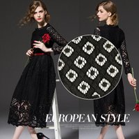 Wholesale 2016 New High Quality Multicolor inch Black French Lace Fabric African Cord lace for Women Wedding Dress Party LM yards