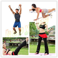 Wholesale Multifunctional X chest crossfit Fitness equipment X shaped rope Resistance Bands yoga Elastic Exercise Bands