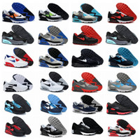 Wholesale New Men Womens Running Shoes Max Sneakers High Quality Many Colors with Original Logo Black and white and blue
