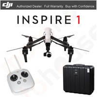 aerial shipping - Factory Price latest hottest unique DJI INSPIRE Quadcopter Drone w K HD Camera single remote and free case DHL