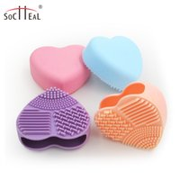 Wholesale Silicone brush Manicure heart shaped artifact beauty cosmetic brush cleaning cleaning tools