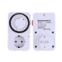 Wholesale 1pc Hour Energy Saver Mechanical Electrical Plug Program Timer Power Switch EU Plug Hot Worldwide