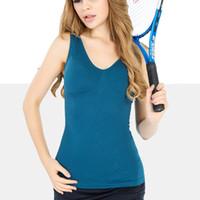 Wholesale Women Sports Clothing Bodybuilding Sponge Padded Shapewear Yoga Shirts