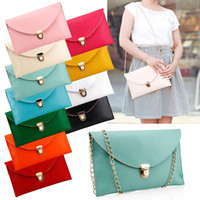 Wholesale Women Evening Handbag Lady Envelope Clutch Shoulder Chain Tote Bag Purse