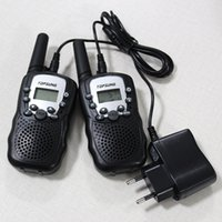 Wholesale Pair Mini Walkie Talkies T388 with Charger Private Codes Interphone PMR FRS CH Km Way Radios Wireless Communication Tool