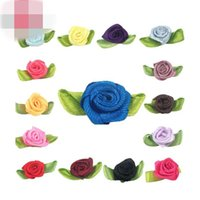 baby hair accessories apparel - Baby Girl Hair Jewelry Bows Ribbons Doll Accessories Little Gift Apparel Accessories Underwear Decor Rose Green Leaves Flower