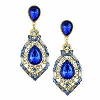 Wholesale 2016 Cheap Wedding Accessories Fashion Rhinestone Jewelry Diamond Bridal Earrings In Stock Green Blue