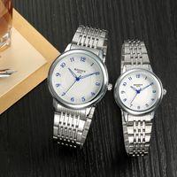 Nuevos relojes de cuarzo de los pares del indicador de BADECA del dial de los nuevos de la llegada del estilo de lujo de la alta calidad romántica del regalo
