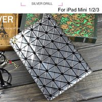 best leather ipad cover - Best selling Luxury Colorful Bling Laser Diamond Flip Stand Leather Case Smart Cover For iPad Mini Retina protective shell