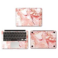 Wholesale Pink Marble Grain Vinyl Full Body Cover Laptop Decal Skins For Apple Macbook inch Protective Stickers