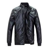 Wholesale Fall new arrivals autumn men leather jackets and coats pu outwear outdoor jacket M XL AYG63