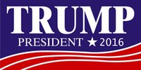 Wholesale DONALD TRUMP FOR PRESIDENT Bumper Sticker quot X quot to America
