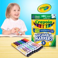 Wholesale 8 color Crayola Washable Coarse Head Of Watercolors Fashion Gifts for Children Children Gifts Washable Crayons