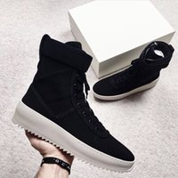 Wholesale with Box high Men Winter Boots Owen Winter Shoes fear of god High shoe FOG black white military boots high street boots
