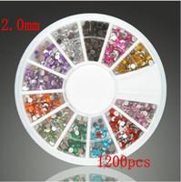 Wholesale Nail Art Glitter Tip mm Acrylic diamond DIY Rhinestone Deco With Wheel Beauty Nail Art Accessories Dec set