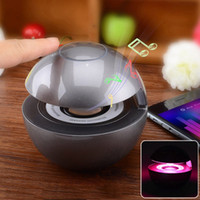 arrival surround speakers - 2016 New Arrival BT Bluetooth Speaker Touch Control Mini Stereo Speaker Multi Color LED Hands free Speaker for Driving Sleeping