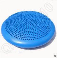 balance disc cushion - 40pcs CCA3720 High Quality Candy Color cm Inflatable Yoga Cushion Wobble Stability Balance Disc Massage Cushion Mat Ball Wheel Pad
