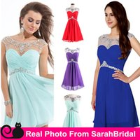 art for sale - 2016 Summer Homecoming Dresses for Sweet Sixteen Graduation Girls Gowns Hot Sale Cheap Sheer Crew Neck Short Mint Chiffon Prom Party Wear