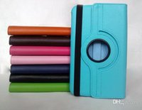 Wholesale 200PCS Rotation Protective Lichi PU Leather Case cover PC Cover Stand for iPad iPad Air TB9