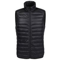 Wholesale Fall Winter duck down vest men Ultra Light Duck Down Vest loose waistcoat Vest Sleeveless jacket autumn black gray blue navy