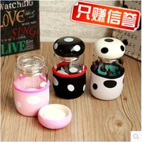 Wholesale Creative mushroom portable filter with cover glass with a cup of tea cup set students lovers cup for men and women