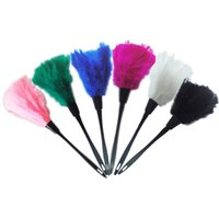 Wholesale PC quot New Multicolor Turkey Feather Duster Plastic Handle cm Feather Duster
