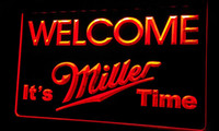 beer time - Ls257 r Welcome Miller Time Beer Neon Light Sign jpg