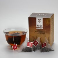 Wholesale Hot sales chinese ripe pu er tea in Corn fiber Pyramid bag g Health black Pu erh tea bag for Detox and keep fit