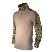 Wholesale Military Camouflage Uniform Combat Shirt with Elbow Pad Airsoft Tactical Suit Paintball Wargame Hunting Clothing