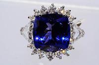Wholesale 17 Ct Huge Natural quot AAA quot Tanzanite Diamond Ring W Trillion Diamonds