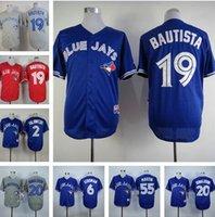 baseball pa - New Blue Jays de Toronto jerseys pas cher Jose Bautista jersey throwback baseball Josh Donaldson Marcus Stroman jersey