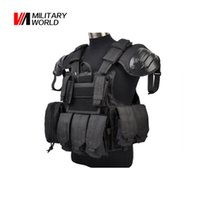 Wholesale D Nylon Tactical Molle Vest with Tool Radio Pouch Airsoft Military Hunting Vest With Gun Magazine Pouches Shooting Gear