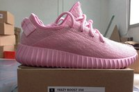 boxes for wedding dress - Pink Purple Romantic Colors For Wedding Yeezy Boost Dress Shoe Men s Fashion Sneaker Shoes With Brown Box Athletic Shoes YEEZY Boost