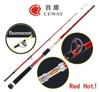 Wholesale Carbon Fishing Rod Red Boat Power Fish Ocean Hard Rods Jig Jigging Rod Deep Sea Pole sections m